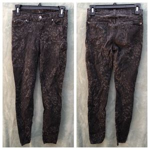 7 For All Mankind Floral Print Jeans